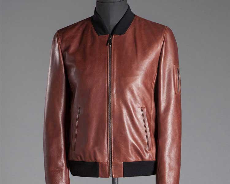 leather bomber jacket Tesco