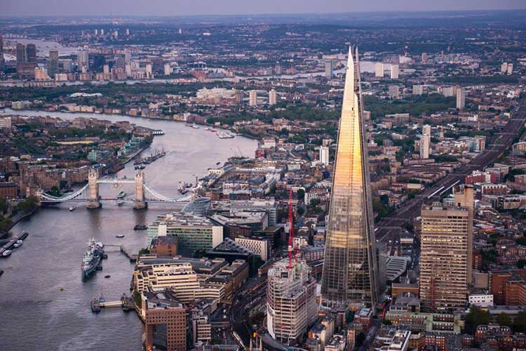Aerial-Views-Of-The-Shard