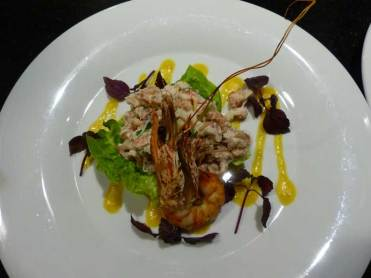 Prawns Crab and Granny Smith tartar - €12