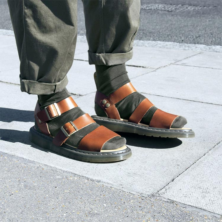 Sandal and socks by Dr Martens