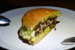 martabak manis indonesian pankcake chovolate, cheddar cheese, seame seed