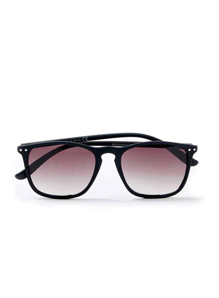 Topman Black Rubber Preppy Sunglasses