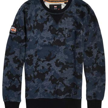 Superdry Rookie Camo Print Crew Neck Sweatshirt