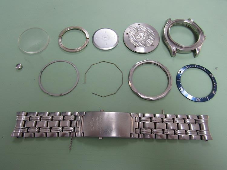 """Watch fully disassembled for inspection and cleaning"" Omega Watch"