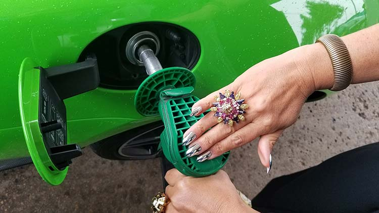 McLaren 570 Spyder Mantis Green Supercar fuel tank swarvoski nail art Gracie Opulanza