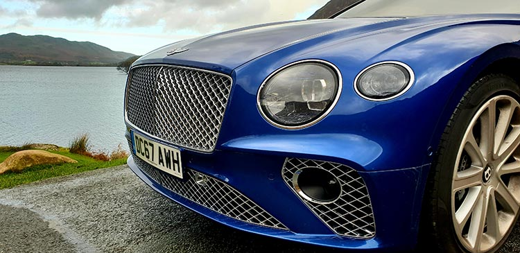 Bentley GT Continental - Grand Tourer Coupe Sequin Blue United Kingdom menstylefashion luxury car 2018 (25) Grill