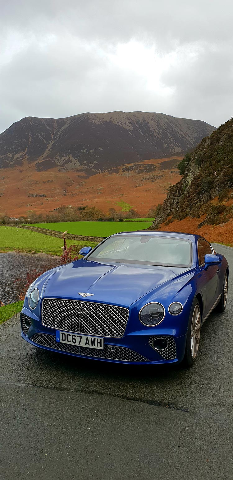 Bentley GT Continental - Grand Tourer Coupe Sequin Blue United Kingdom menstylefashion luxury car 2018 Countryside