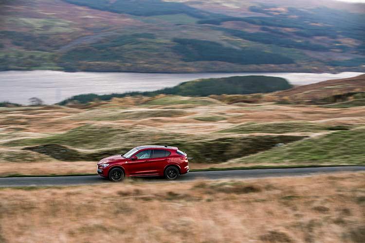 Stelvio Quadrifoglio Alfa Romeo SUV MenSyleFashion Scotland red