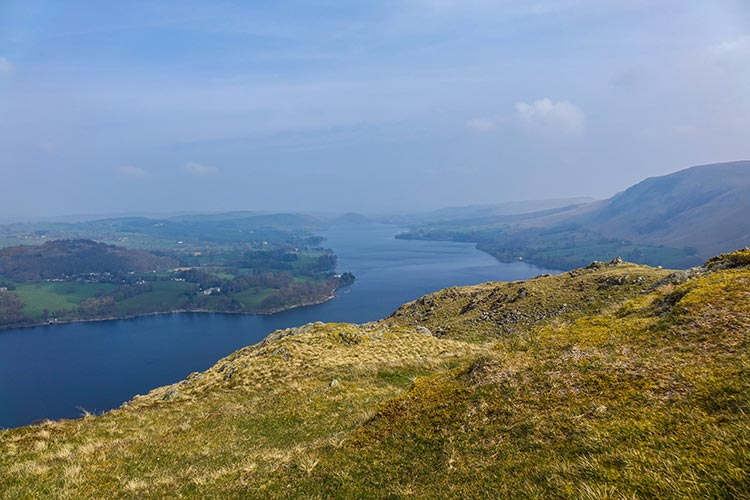 Ullswater the 2nd largest lake in the English Lake District