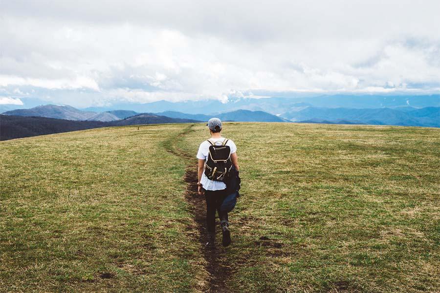 men walking in the mountains