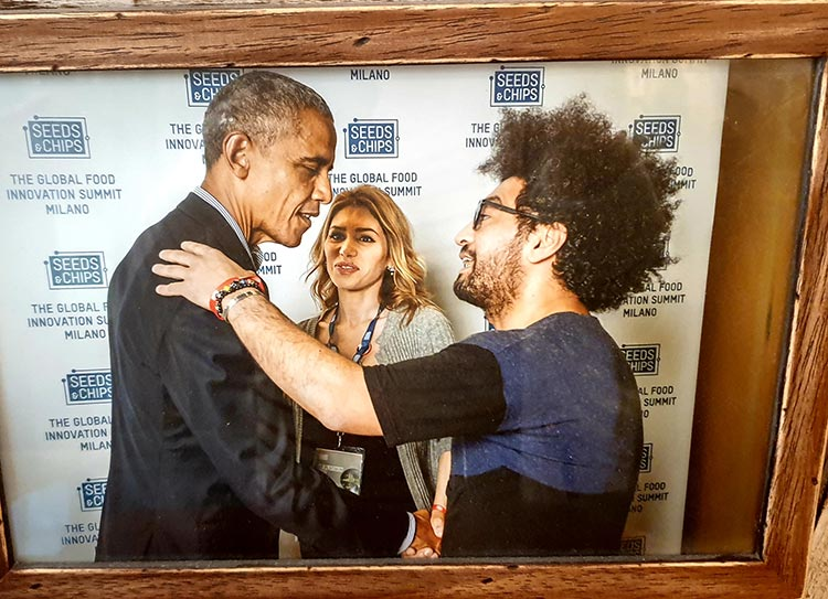 Benheart leather Boutique Florence, Lucca and Italy Obama