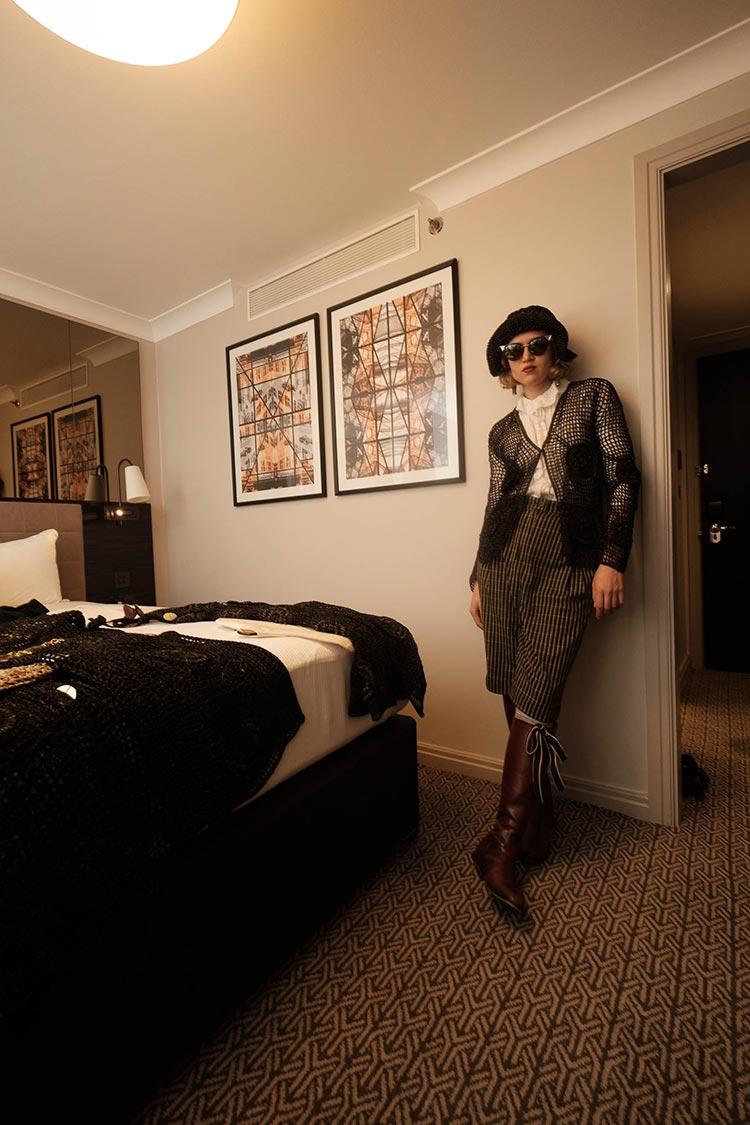 MIHAELA MARKOVIC 2019 Knitwear Black Strand Palace Hotel London United Kingdom Fashion (14)