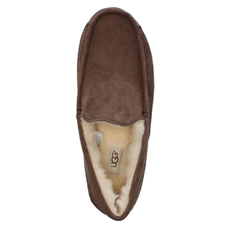 men-s-ascot-brown-suede-shearling-slippers
