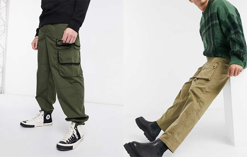 cargo trousers pants by Asos Design