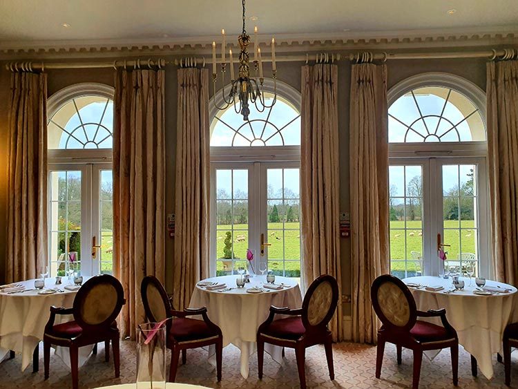 Brockencote Hall Hotel Worcestershire Eden Collection 2020 menstylefashion review (1) Dining area