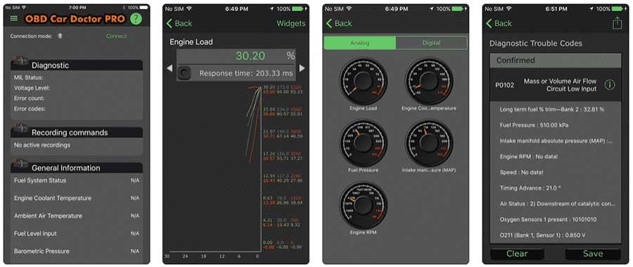 ODB car monitor pro