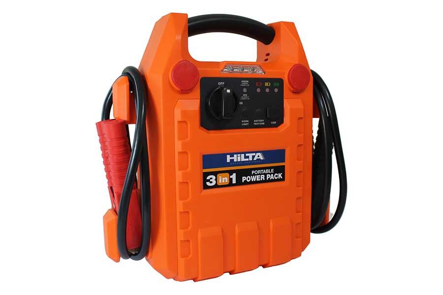 Portable car battery power booster jump starter