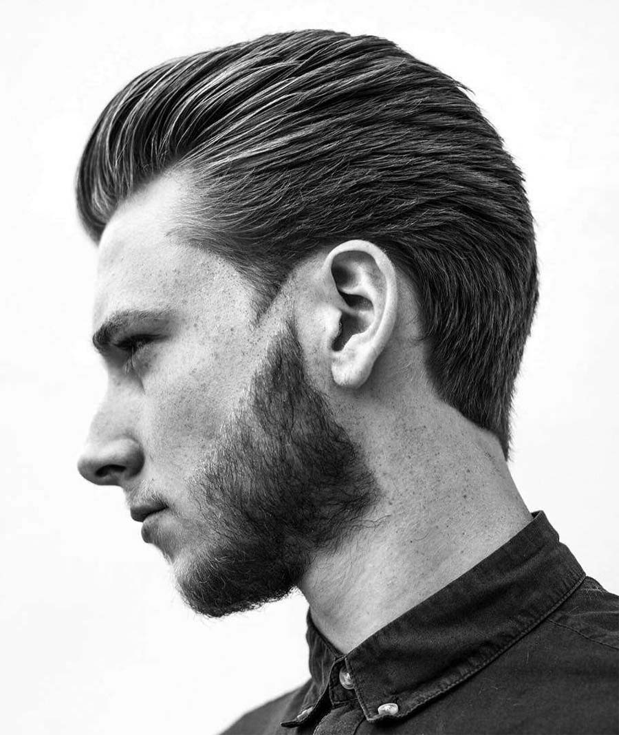 retro romantic hairstyle for men