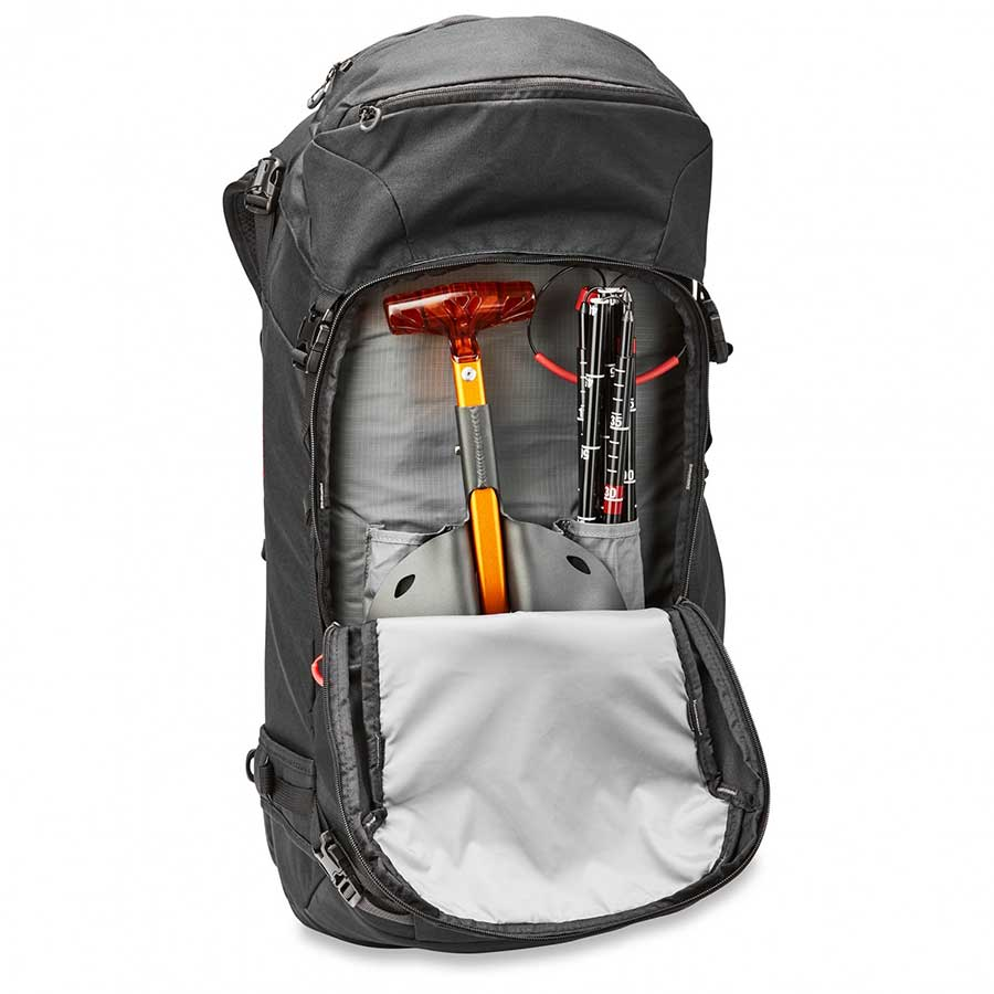 ski backpack with shovel and probe