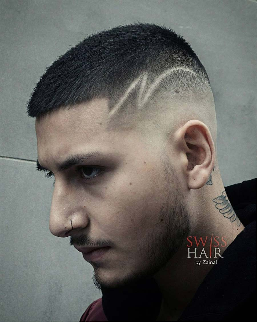 ultra short hairstyle for men