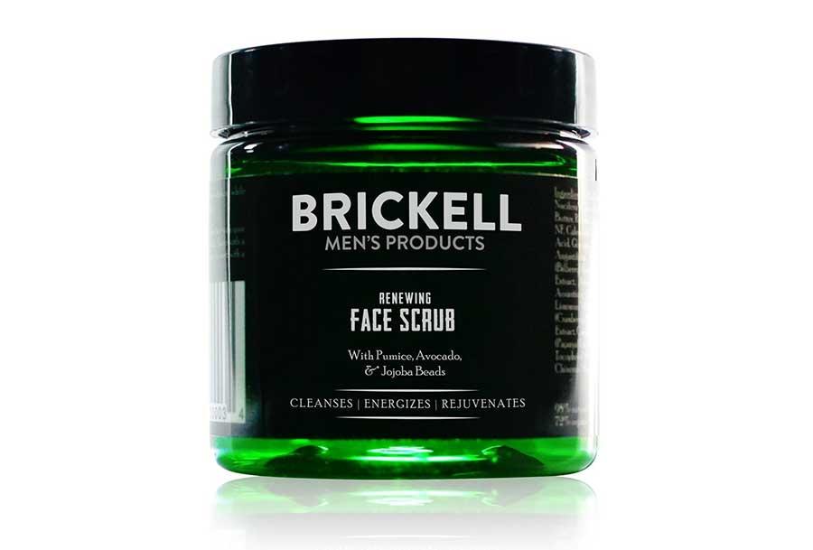 Brickell Mens Renewing Face Scrub for Men