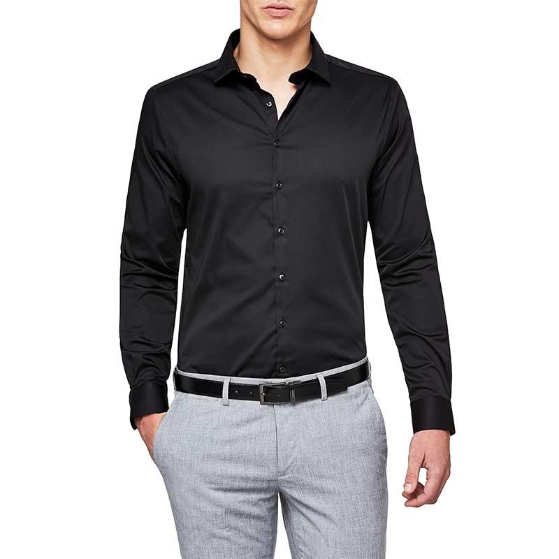 black oxford style shirt for men