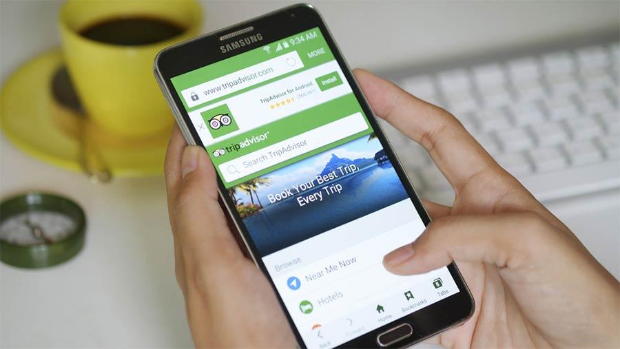 tripadvisor on mobile phone