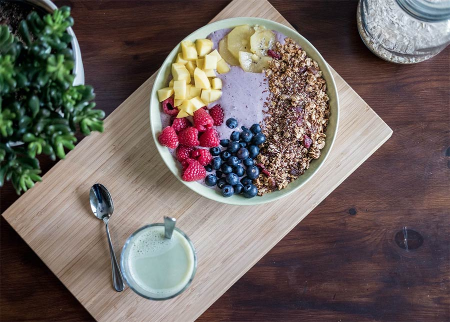 eat healthy - fruit bowl