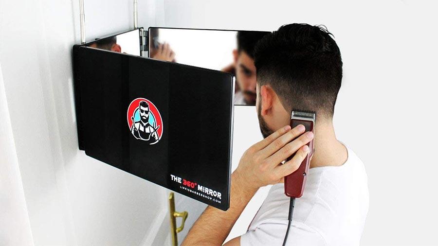 The 360 degree mirror lipfisbarbershop