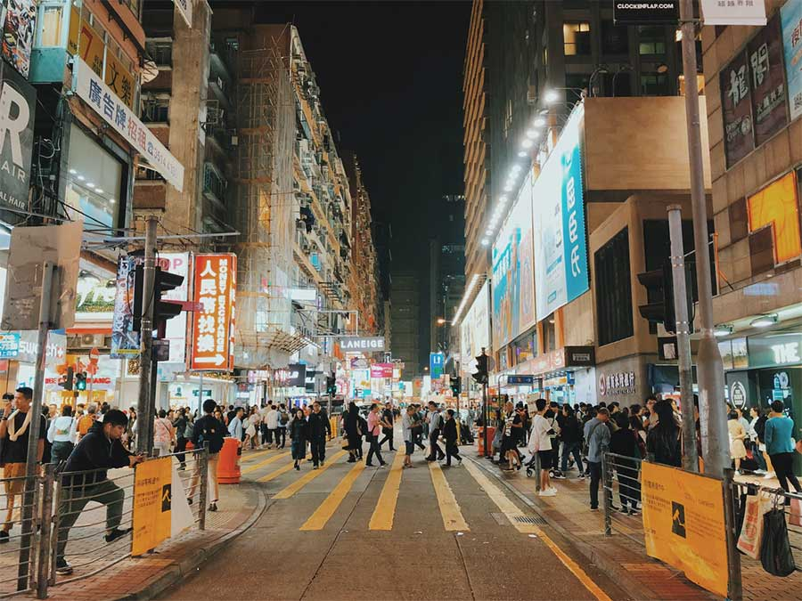 Crowded Streets of Mong Kok
