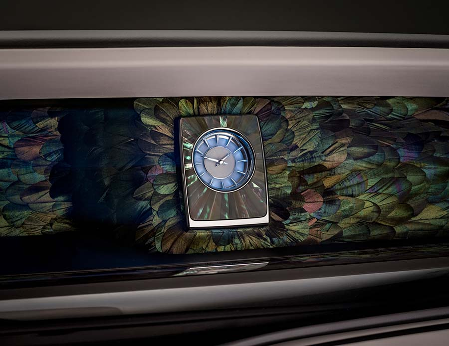 Rolls-Royce Phantom Iridescent Opulence Gallery and Mother of Pearl Clock