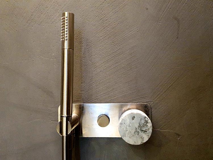 Marble tap handles bathroom
