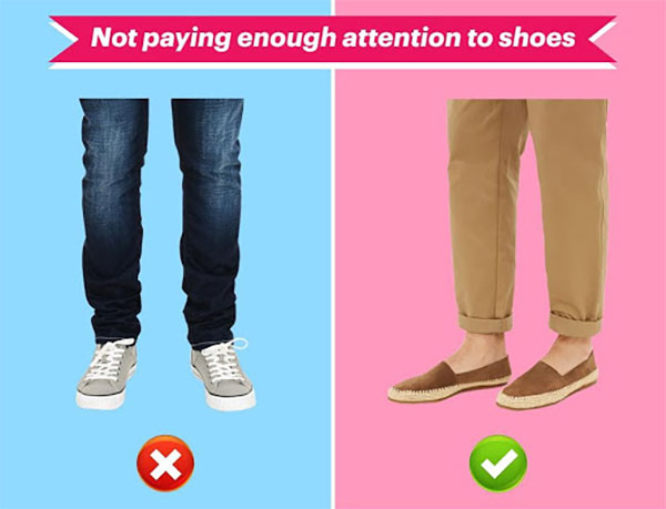 not paying enough attention to shoes