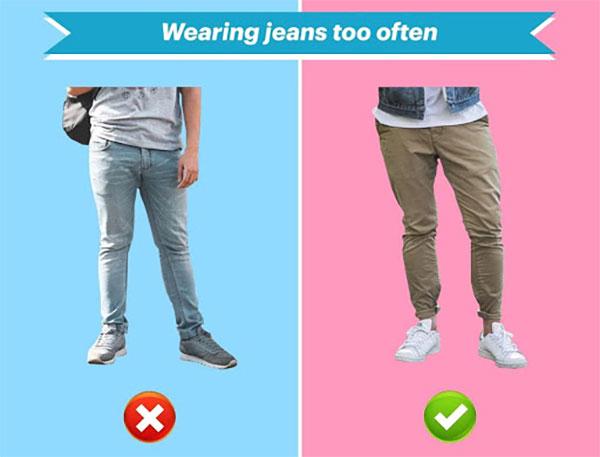 wearing jeans too often