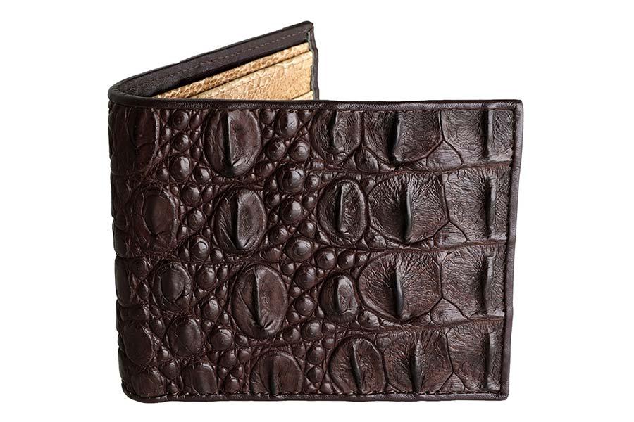 wallet crocodile leather