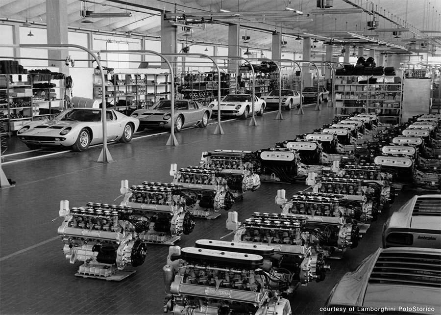 Lamborghini Miura Production