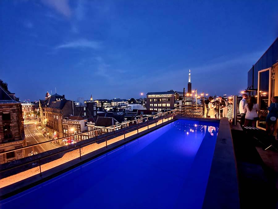 Wlounge WExchange hotel Amsterdam rooftop poo