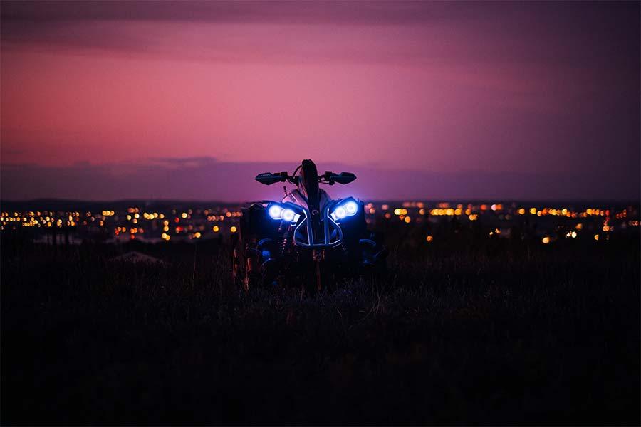 ATV quad bike by night
