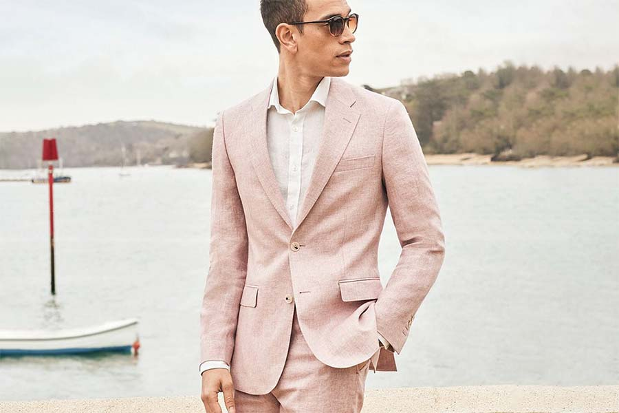 Linen suit men