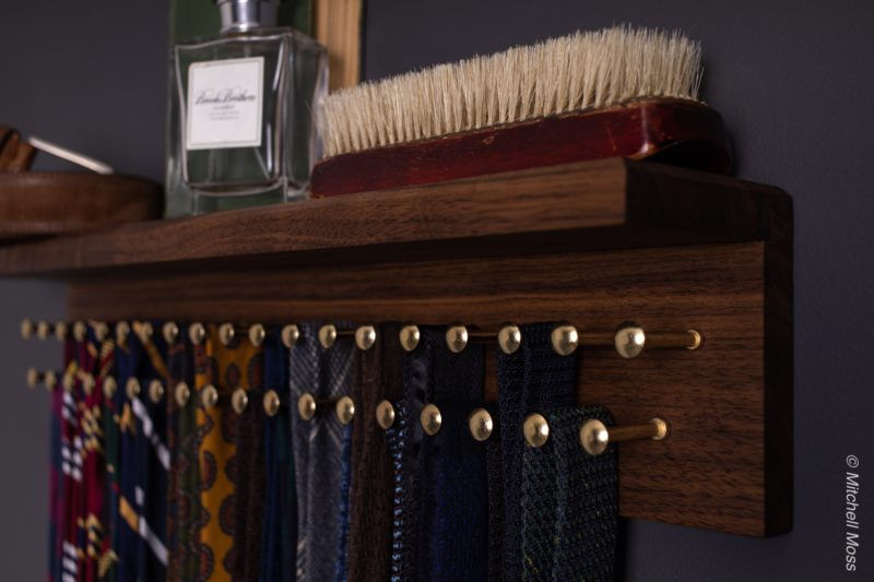 decent tie rack from dapper woodworks