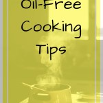 Steaming pot on a stove with text overlay - Oil-free cooking tips