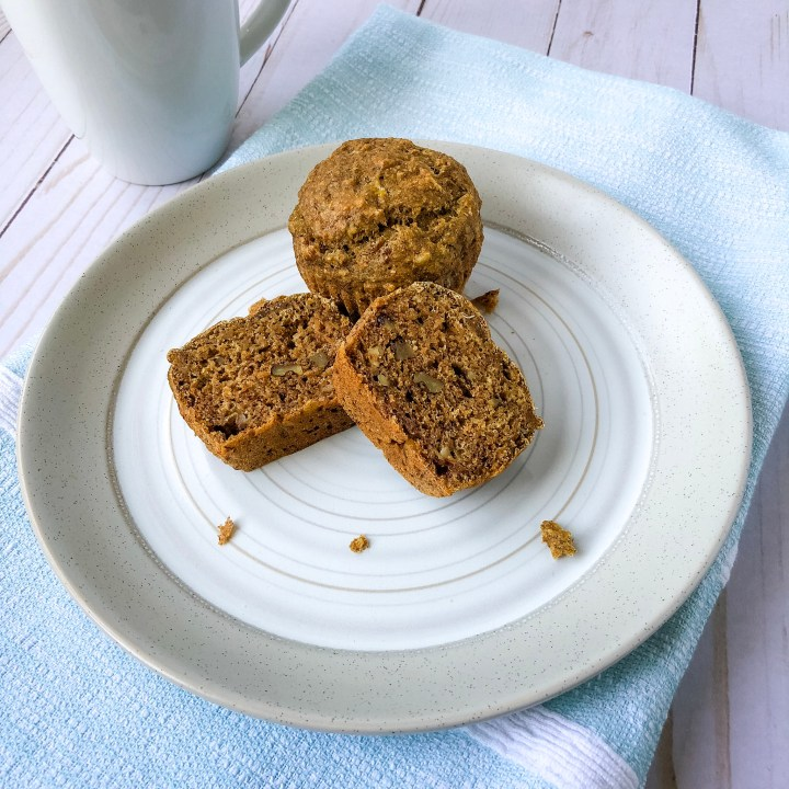 Recipe image for banana nut muffins