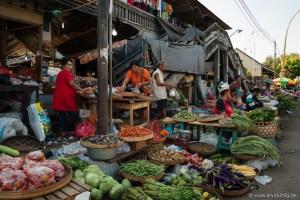 Aber nicht nur das. Fisch, Hähnchen im Bund, Feuerwerk und eigentlich alles, was man sich vorstellen kann oder auch nicht gibt es hier auf den Straßen von Banjar zu kaufen.