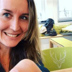 Jules erstes Selfie im Mental Health Café