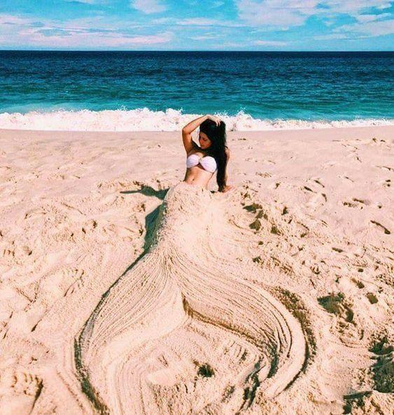 hacer fotos en la playa con la arena