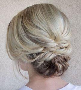Peinado recogido para cabello corto5-updo-for-blonde-balayage-hair
