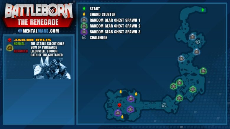 Battleborn Story Mission - The Renegade Overview Map
