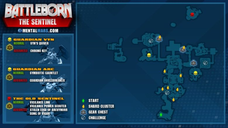 Battleborn Story Mission - The Sentinel Overview Map