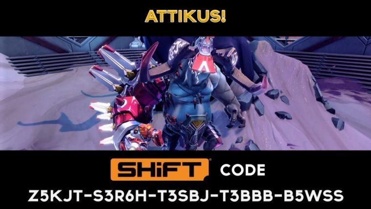 attikus unlock - shift code - Battleborn