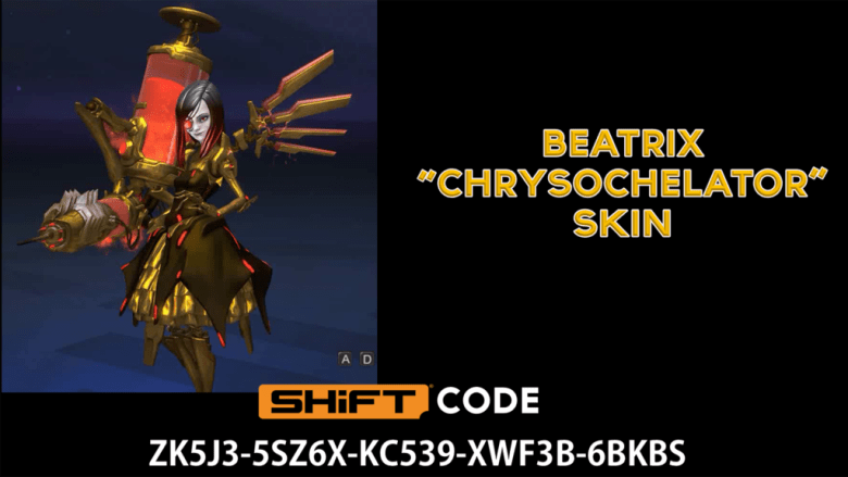 beatrix gold skin - battleborn